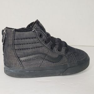 Vans Hi Top Toddler Boys 9 Black Sneakers